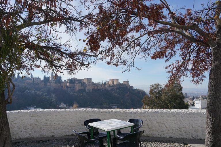 Panorámica de la Alhambra desde el Mirador de Mario Maya